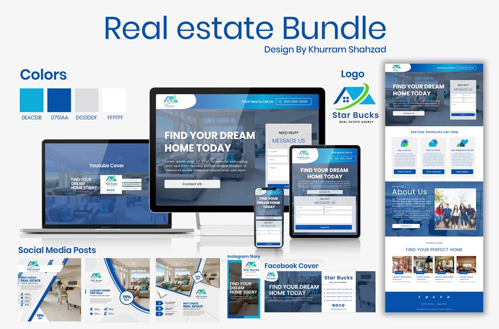 real-estate mockup